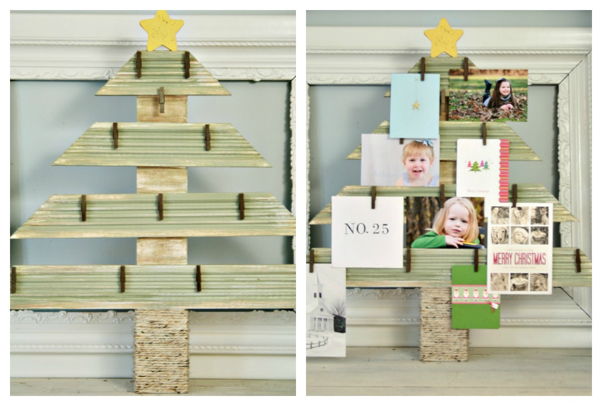 christmas card photo display
