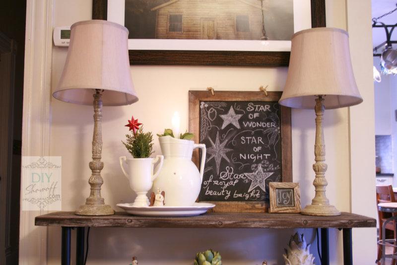 Christmas dining room vignette
