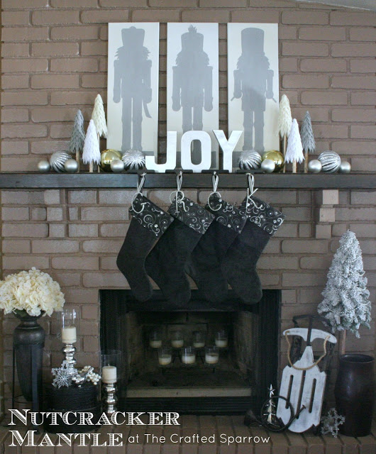 Crafted Sparrow Nutcracker mantel