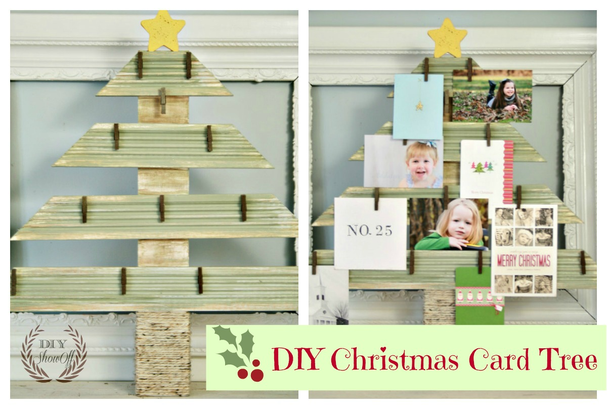 DIY Christmas Card Tree
