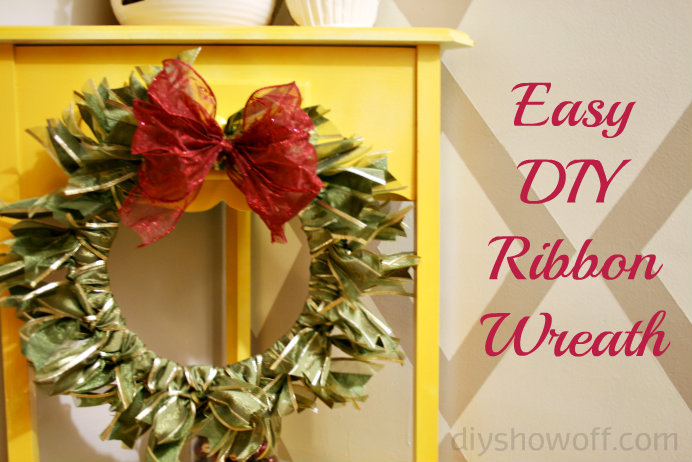 Easy DIY ribbon wreath tutorial