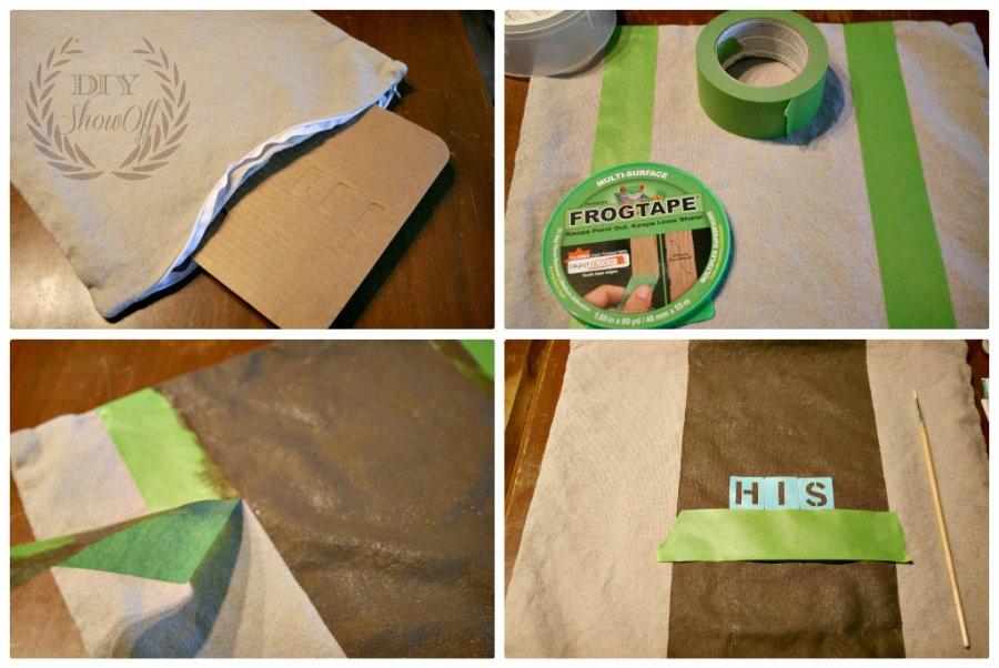 FrogTape-stripe-pillow-cover-tutorial