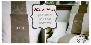 His and Hers Pillow Covers tutorial