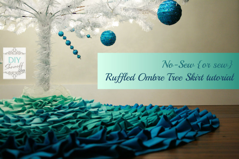 Make a no sew ruffled dropcloth christmas tree skirt hometalk