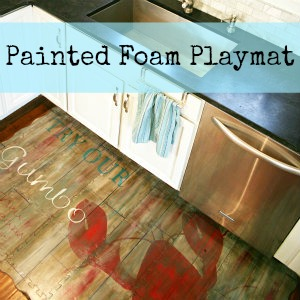 Painted Foam Playmat