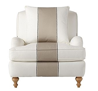 Serena and Lily Bark Miramar Racing Stripe Chair