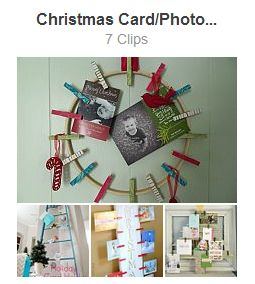 HomeTalk christmas card photo display clipboard