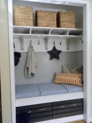 mini mudroom reveal @The Diligent One