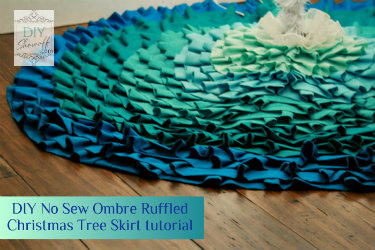 no sew ombre ruffled tree skirt tutorial