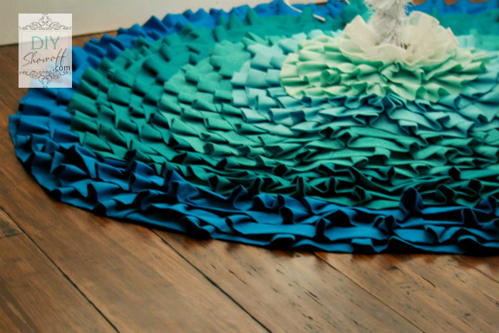 ombre ruffled tree skirt