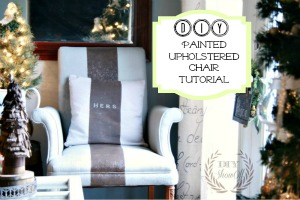 painted upholstered chair tutorial DIY