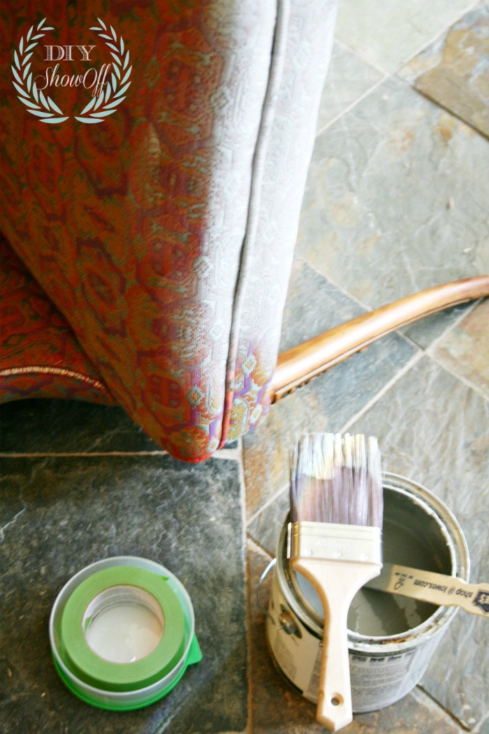 painting upholstered chair