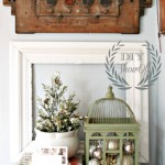 sitting room Christmas vignette