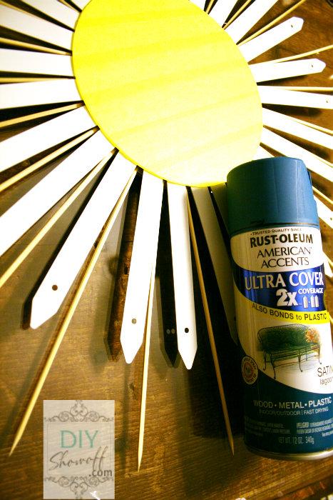 DIY lighted sunburst mirror Christmas tree topper
