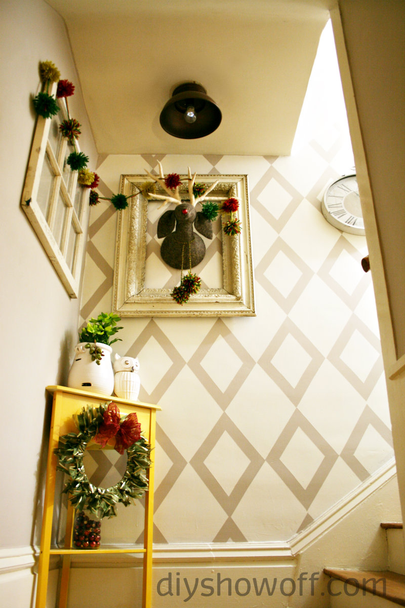 DIY Show Off ~ Budget Friendly Stairwell Landing Makeover