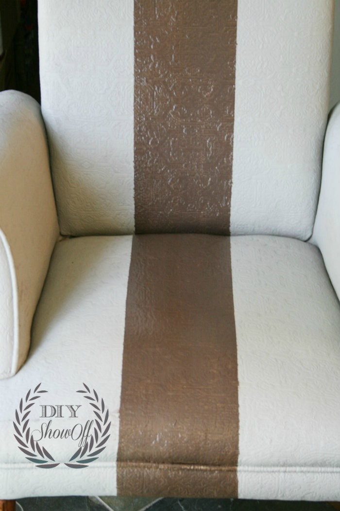 striped painted upholstery