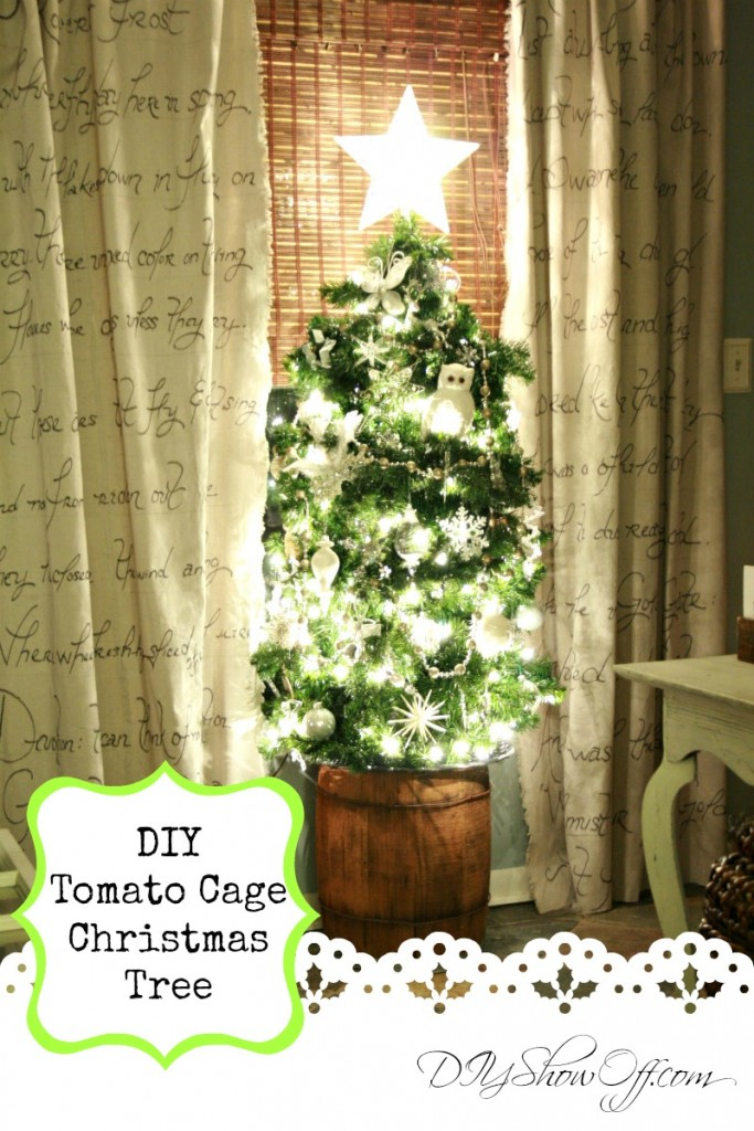 DIY Tomato Cage Christmas tree