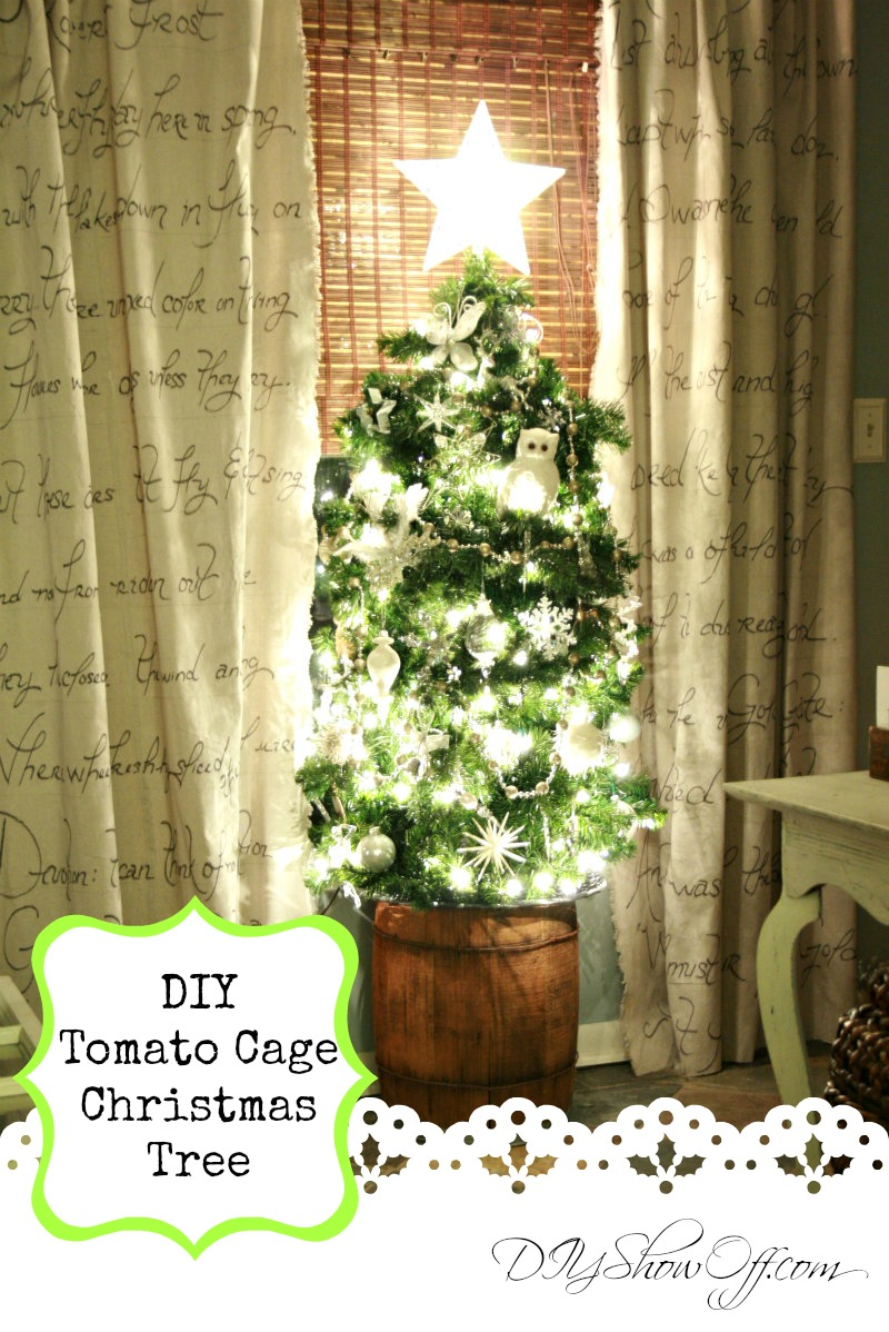 tomato cage tree a diy christmas tree using lighted garland and a tomato cage i was able to find everything i needed at my local true value hardware - Tomato Cage Christmas Decorations