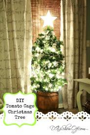 DIY tomato cage Christmas tree tutorial
