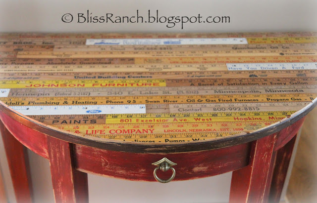 Bliss Ranch Yardstick Topped Table