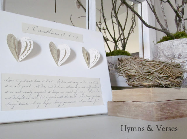 Hymns and Verses Valentine's Day Canvas