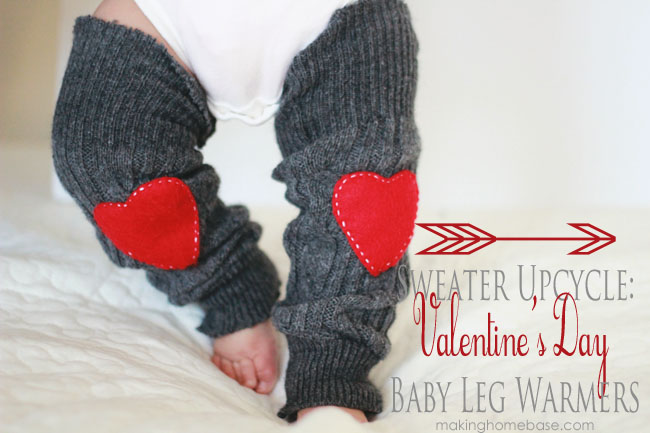 Making Home Base Valentine Sweater Leg Warmers
