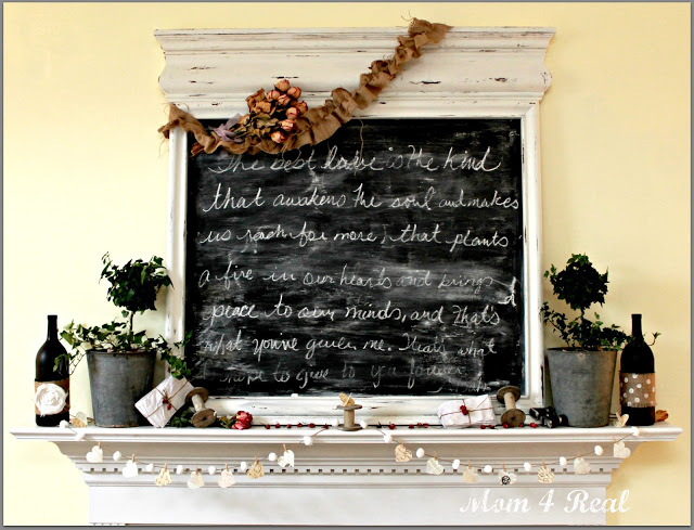 Mom 4 Real The Notebook Inspired mantel