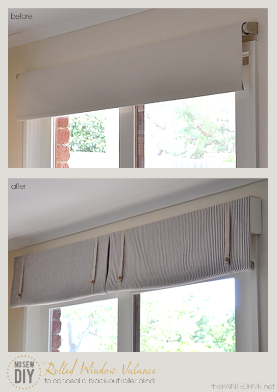 The Painted Hive No Sew Roller Valance