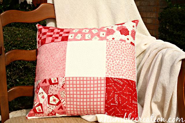 Valentine Patchwork Pillow