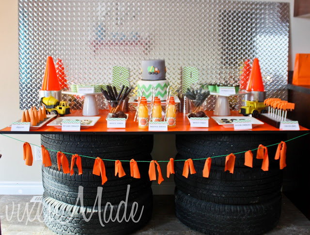 Vixen Made Construction Truck Themed Party
