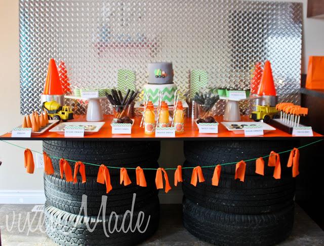 Vixen Made Construction Truck Themed Party