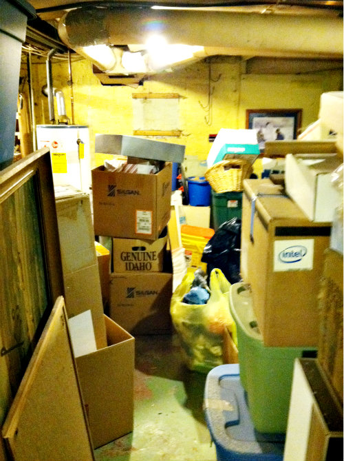 basement mess