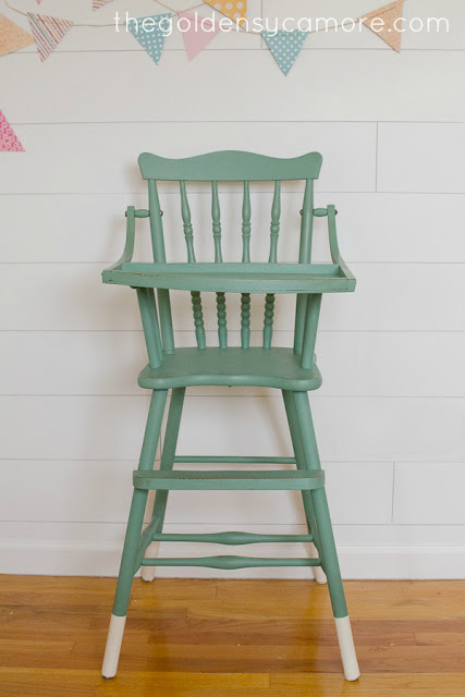 dipped vintage highchair