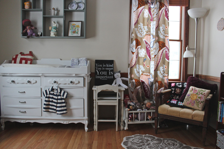eclectic little girls room