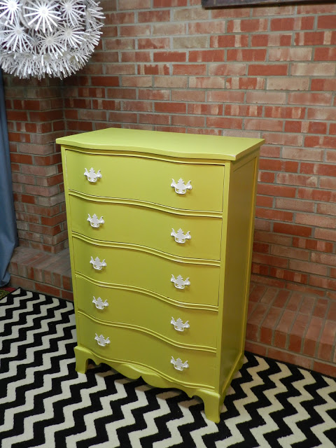 painted dresser chartreuse