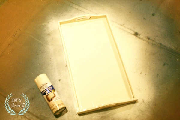 spray painting tray