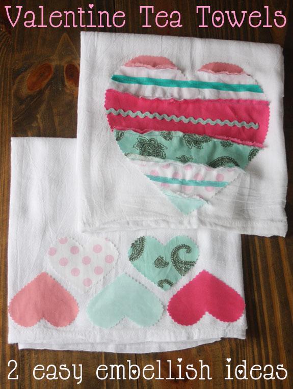 valentine tea towels