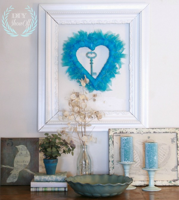 DIY heart ribbon wreath