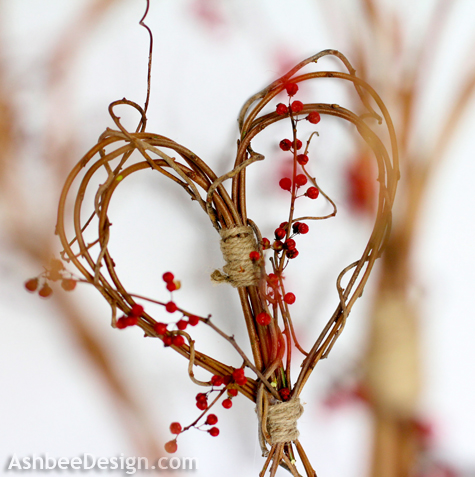 Ashbee Designs - Valentine-Idea-Twig-Heart