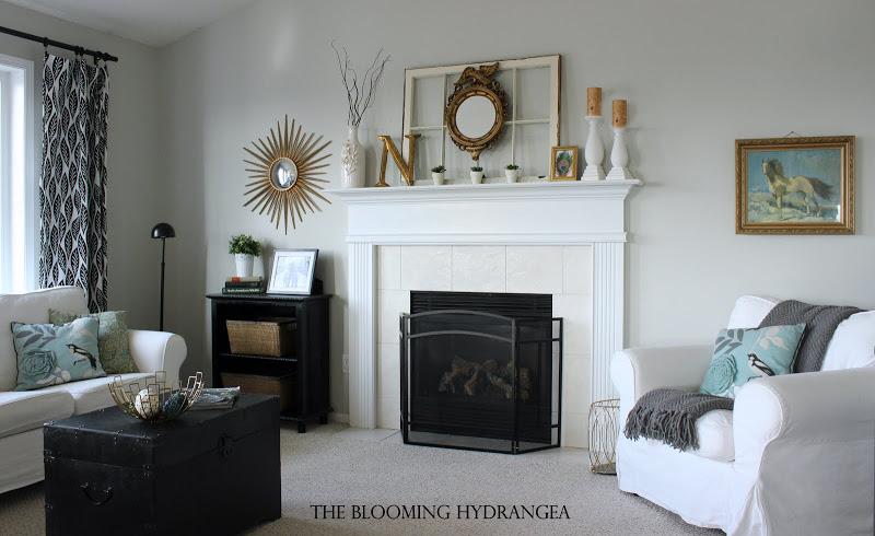 Blooming-Hydrangrea-livingroom-makeover