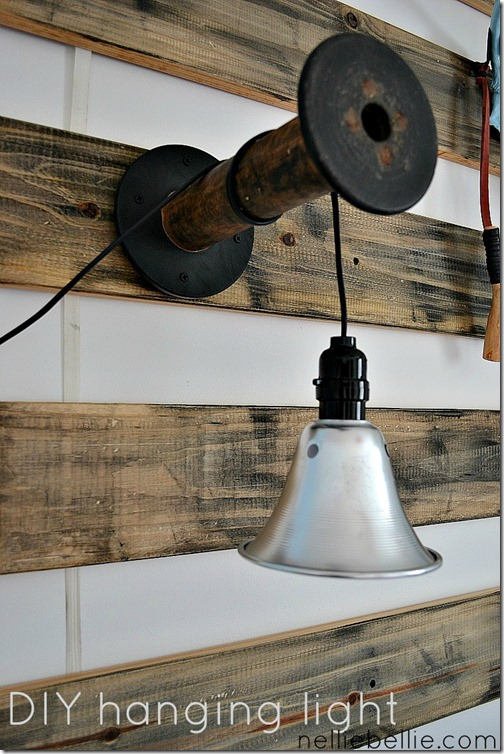 DIY hanging lights by Nellie Bellie