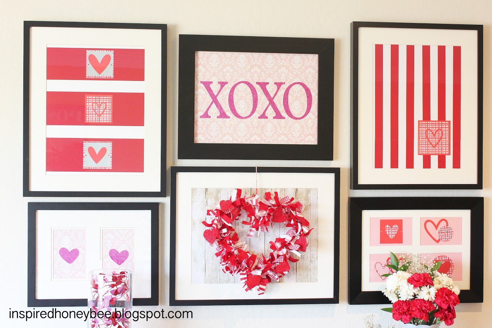 Inspired Honey Bee -Valentine-gallery-wall