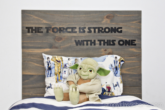 Simply Klassic Home - starwars-wood-plank-headboard