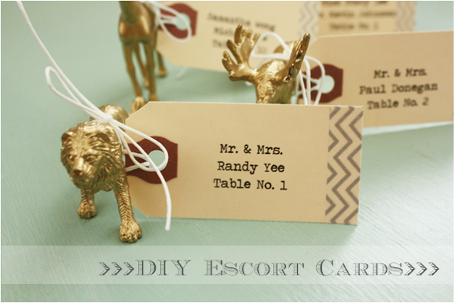 Sugar & Chic - diy-animal-placecards