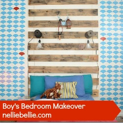 boy bedroom makeover by nellliebellie