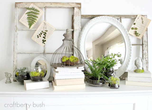craftberry bush spring mantel