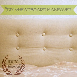 DIY upholstered headboard makeover