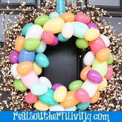 easter wreath by real southern living