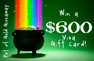 pot of gold $600 giveaway
