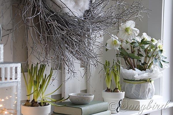 songbird spring mantel
